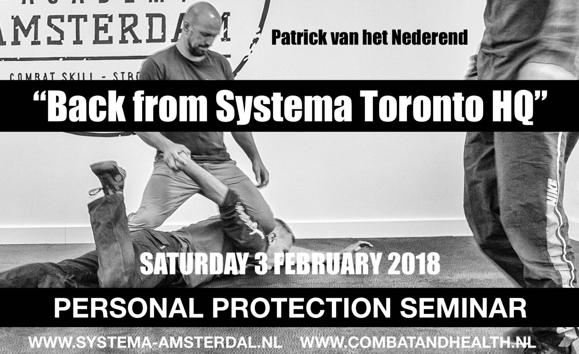 Back from Systema Toronto HQ Patrick van het Nederend